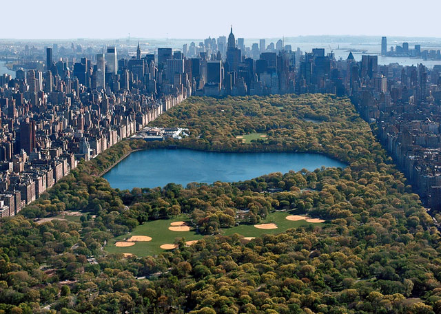 New york central park fantastic view