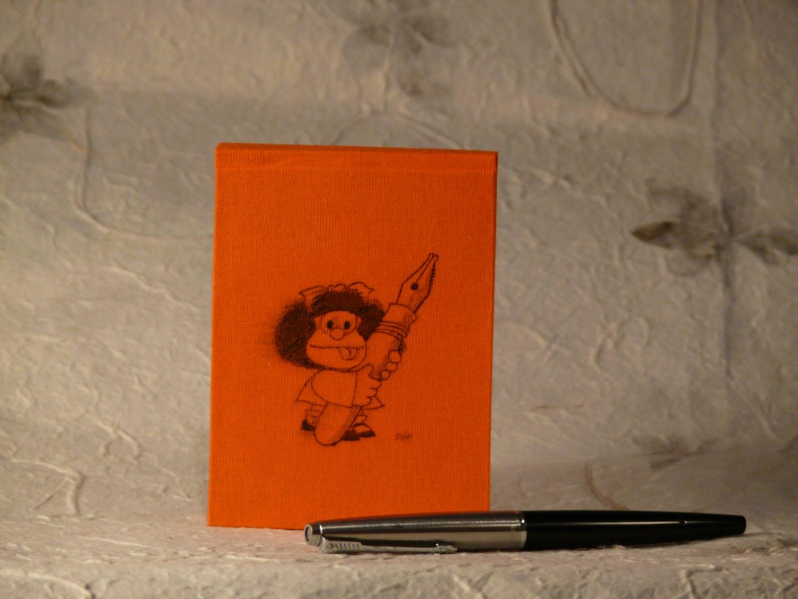 Taccuino arancione con Mafalda Quad+2011+-+8_A