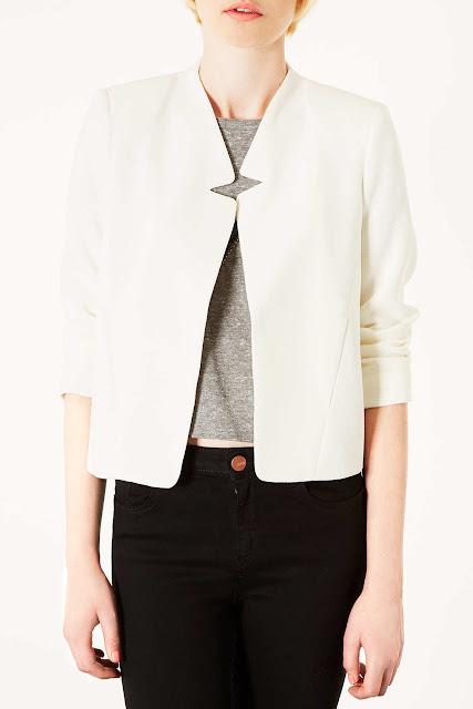 white crepe jacket
