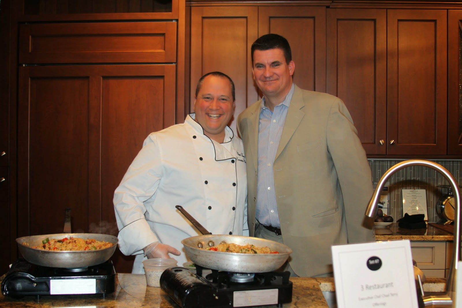 Pictured from Franklin's 3 Restaurant are Executive Chef Chad Terry and General Manager Brian Ravella