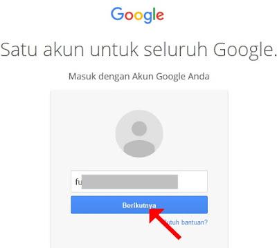Masukkan emal gmail Anda