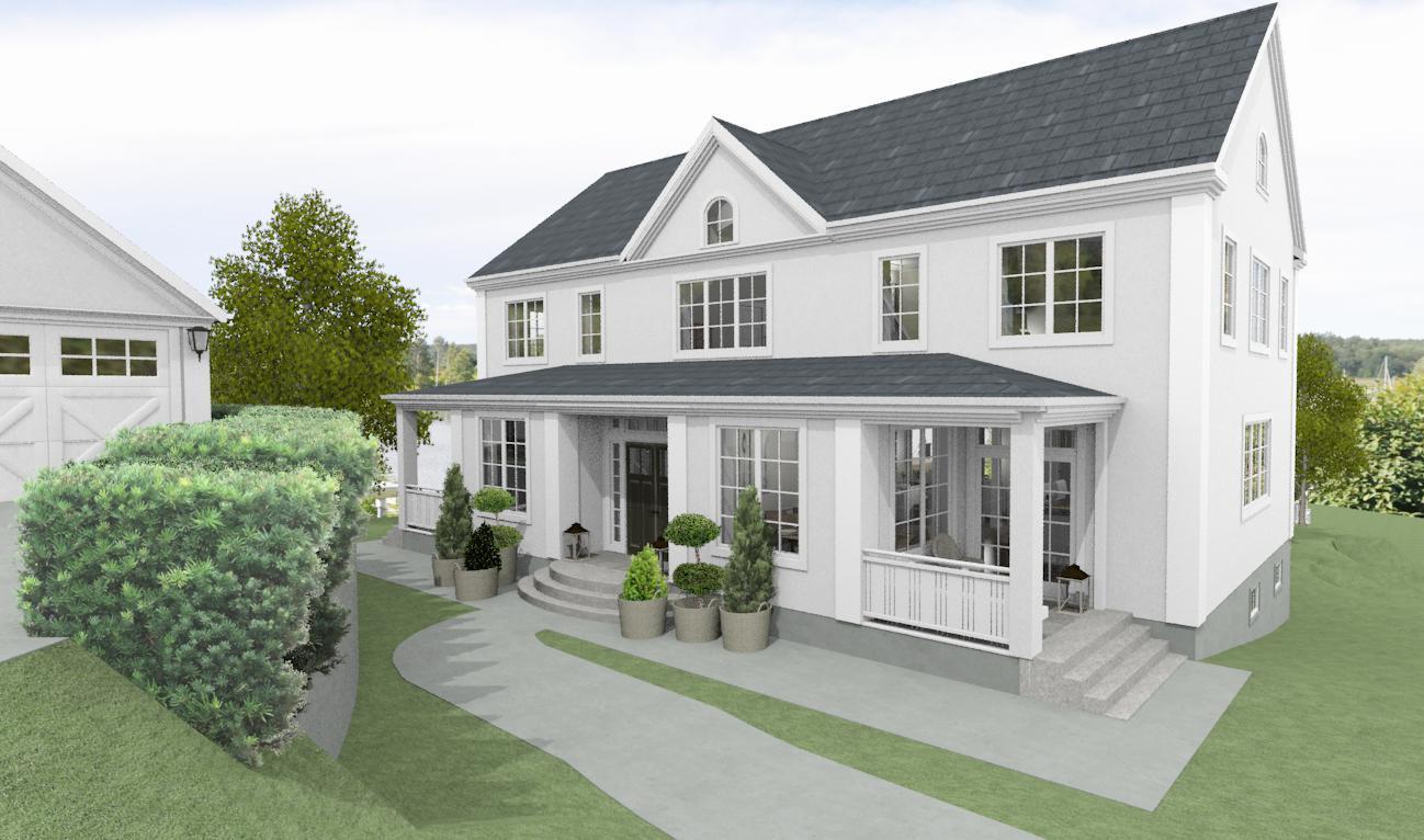 Dreams & Coffees arkitekt- och projektblogg: Ett putsad hus i ...