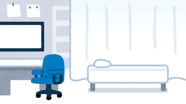 病院の診察室のイラスト(背景素材)