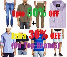 Killing Offer: Upto 50% Off+ Extra 30% Off on Top Brands Men's Clothing@ Amazon(No Minimum Purchase Condition)