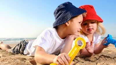 Juegos para niños en la playa
