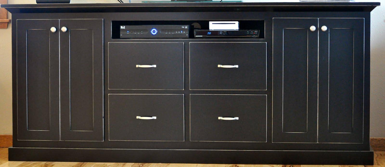 Scott River Custom Cabinets Painted Black Entertainment