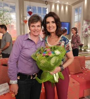 Stans Scheltinga com Fátima Bernardes