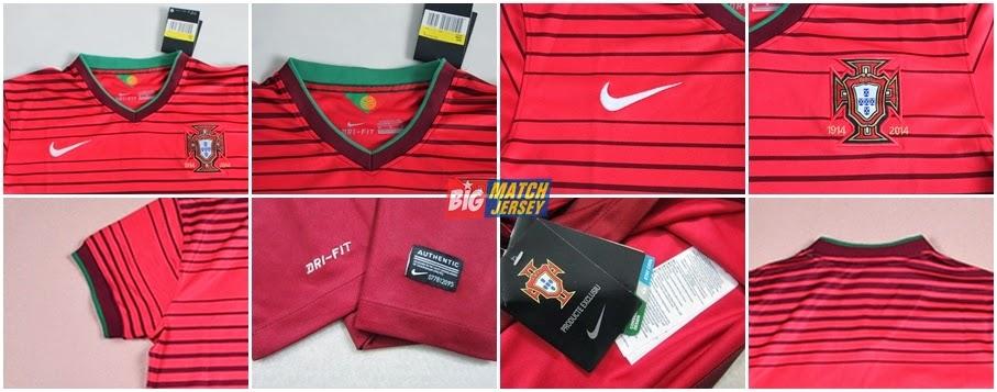 Detail Portugal Home Ladies Piala Dunia 2014  Distributor Jersey Jakarta
