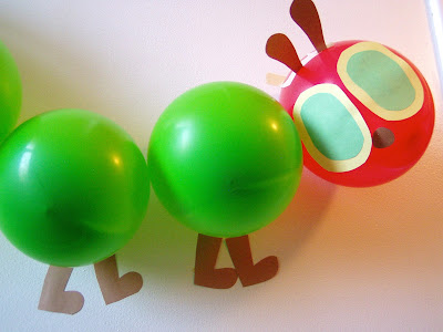Balloon Very Hungry Caterpillar by Ms. Sara's Preschool Blog