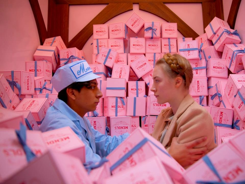 Tony Revolori and Saiorse Ronan in The Grand Budapest Hotel