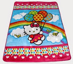 Jual Selimut New Seasons Blanket hello Kitty Pelangi