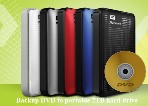 Backup DVD to portable 2TB hard drive for using on tablet/phone