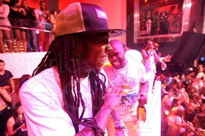 fotos de lil wayne diddy dj scoob doo y kevin hart en el club liv