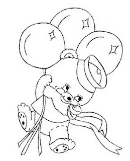 urso marinheiro com baloes