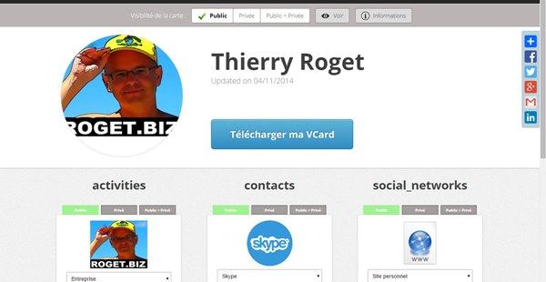 Ct Carte De Visite Virtuelle Il Est Possible Dajouter Des Fiches Activit Contacts Rseaux Sociaux Pour Se Faire Mieux Connatre