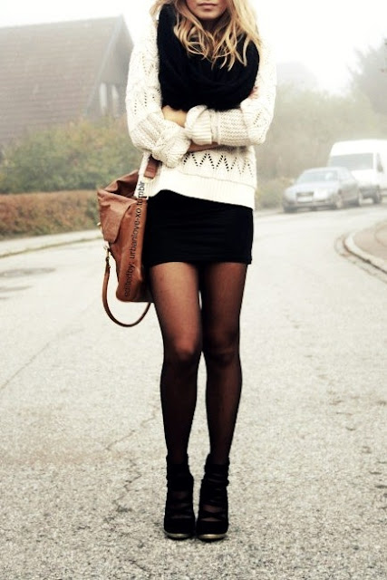 Cute Outfits with Black Tights