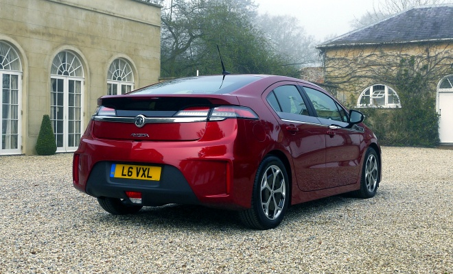 Vauxhall Ampera from the rear