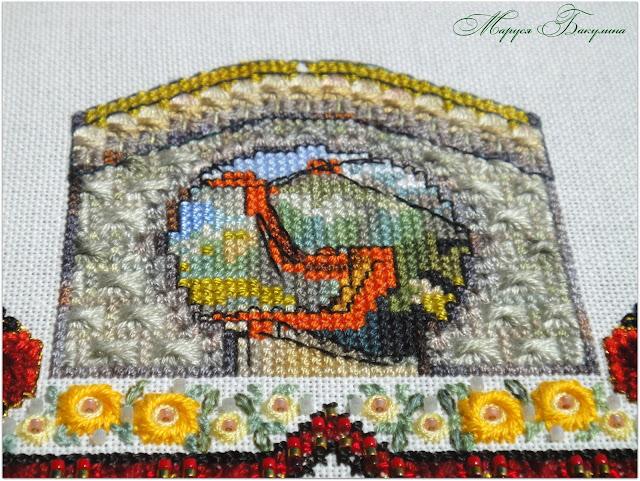 chatelaine, вышивка крестом, вышивка, swarovski, рукоделие, Великая Китайская стена