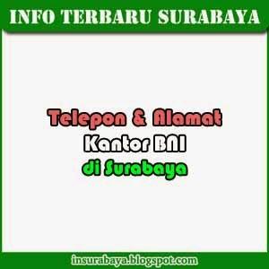 Telepon dan Alamat Cabang BNI di Surabaya