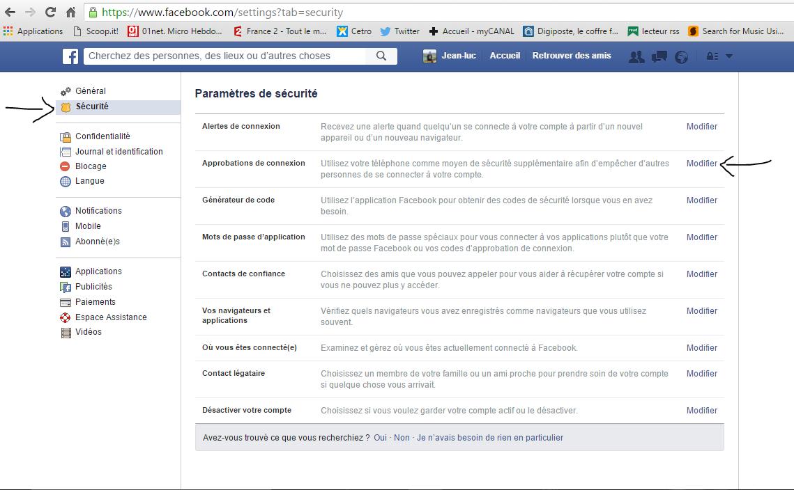 Mon pc les tuyaux d 39 ecto s curiser son compte facebook for Fenetre qui s ouvre en haut