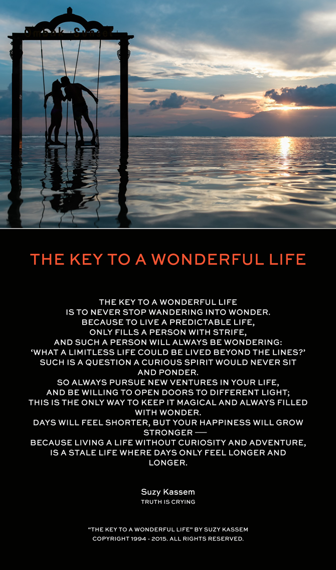 The Key to a Wonderful Life