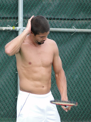 Fernando Verdasco Shirtless at Cincinnati Open 2011