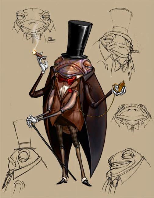 illustration de David Sladek representant un concept art de grillon