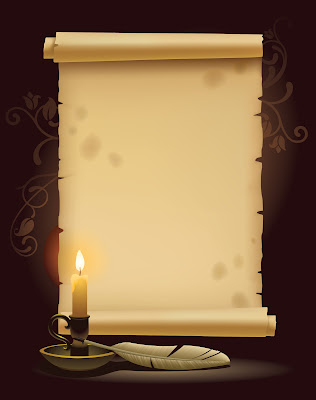 Vintage paper with candle