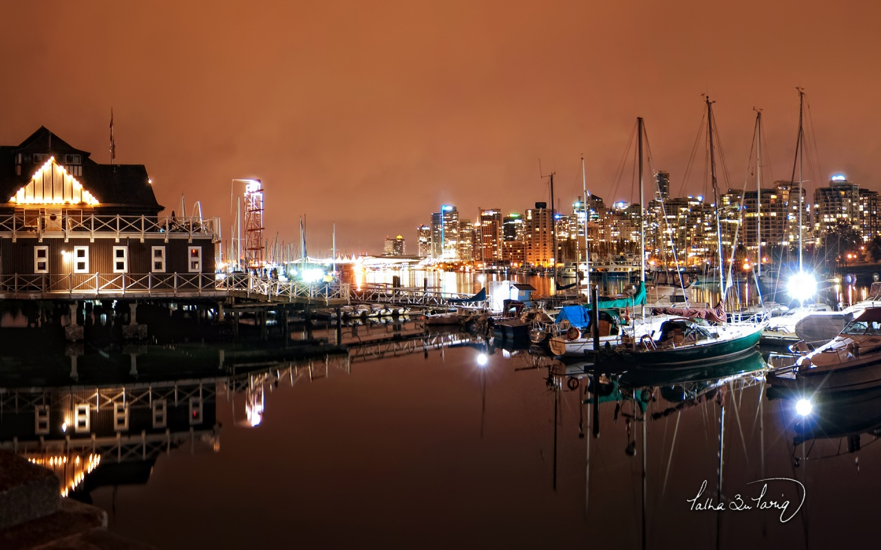 vancouver coal harbour nights wallpapers - Vancouver Coal Harbour Nights Wallpapers HD Wallpapers