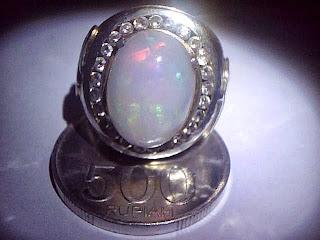 Batu Cincin Kalimaya Susu Banten Ring Perak