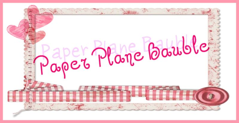 Paper Plane Bauble