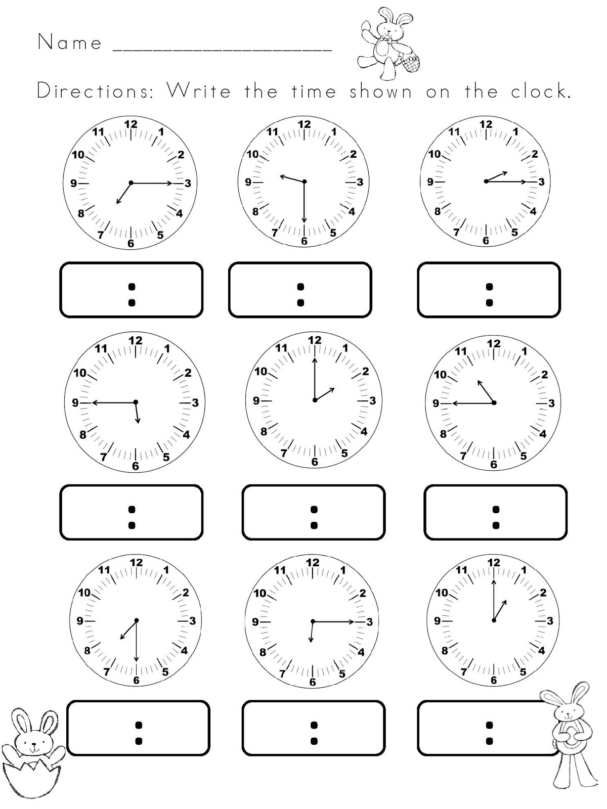 converting between analogue and digital time worksheets pdf