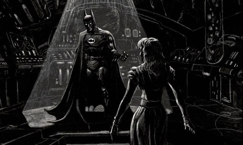 Tim Burton´s Batcave concept art