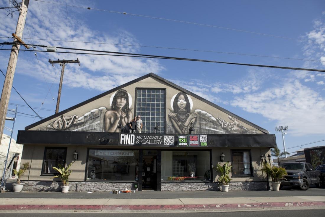 fin dac x angelina christina new mural in costa mesa usa streetartnews streetartnews. Black Bedroom Furniture Sets. Home Design Ideas