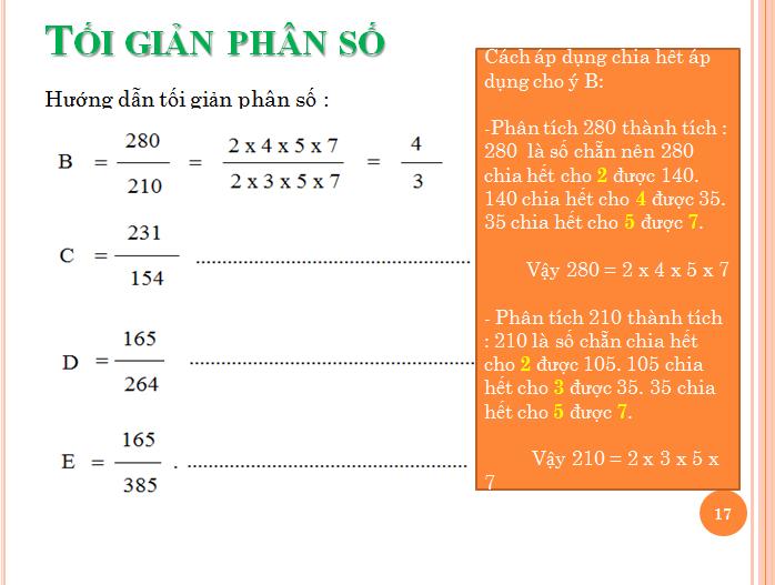 Bài tập phân số toán lớp 5 - rút gọn phân số(17)