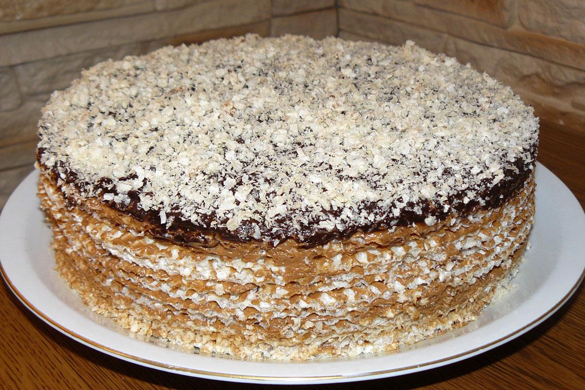 крем для вафельного торта со сгущенкой