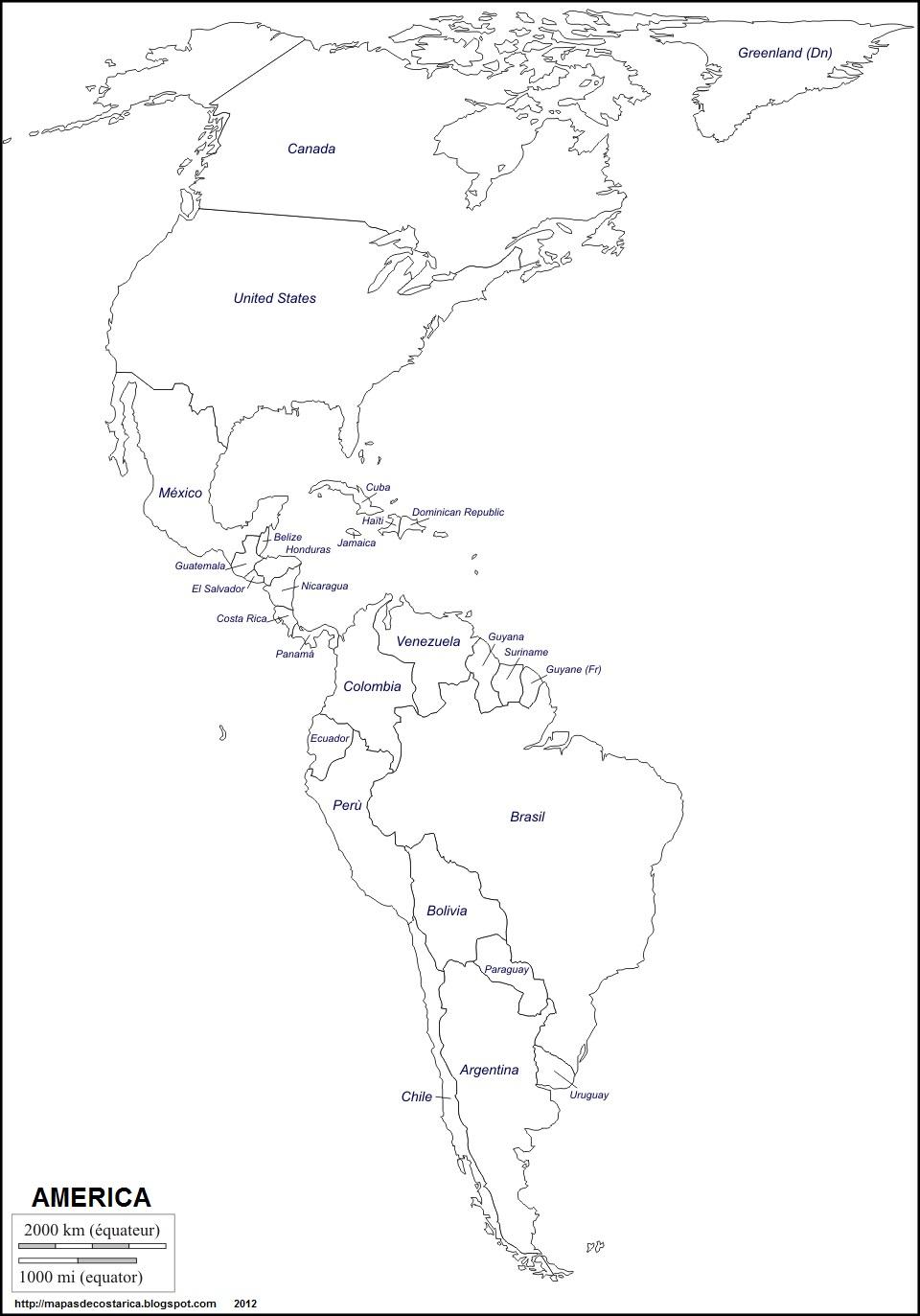 Mapa De America Latina Con Division Politica