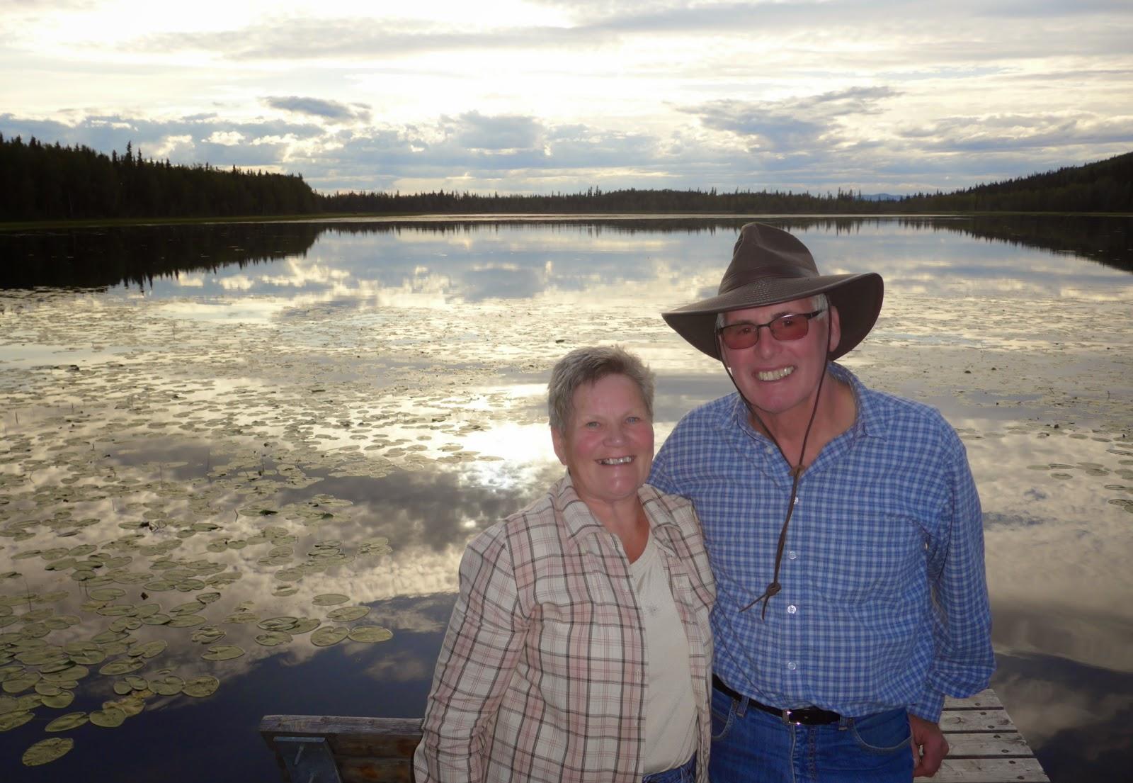 Lizbeth and Hansuli at Quartz Lake, Alaska