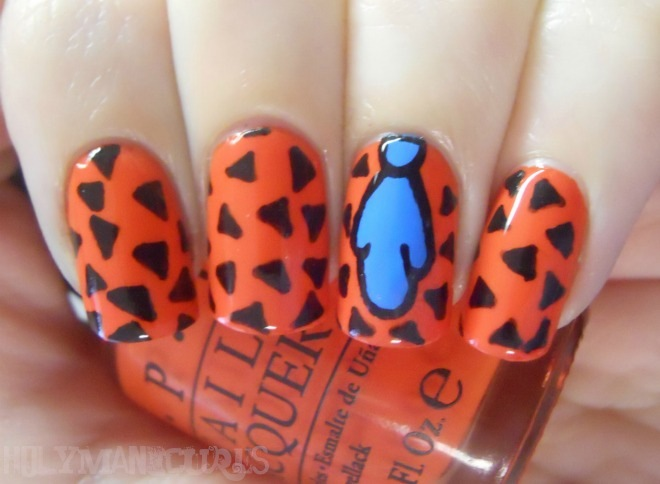 Fred Flintstone nail art
