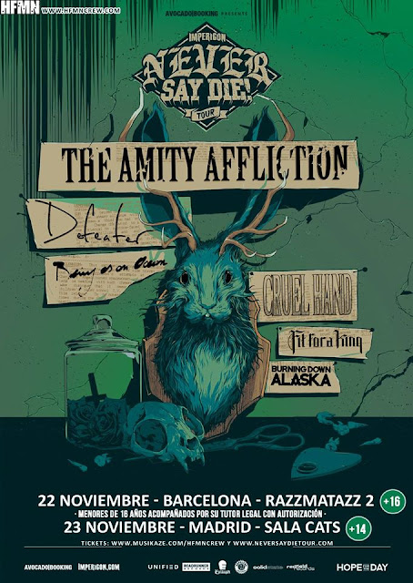 barcelona madrid the amity affliction defeater