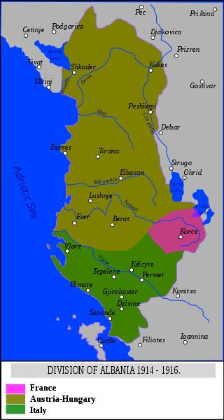 Albania in 1916