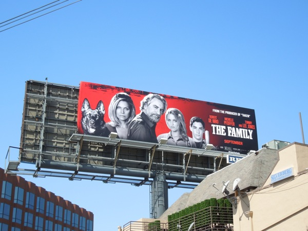 The Family film billboard