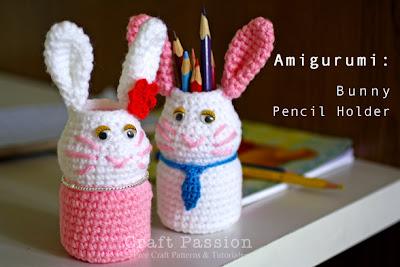 Cách móc lọ đưng bút thỏ con