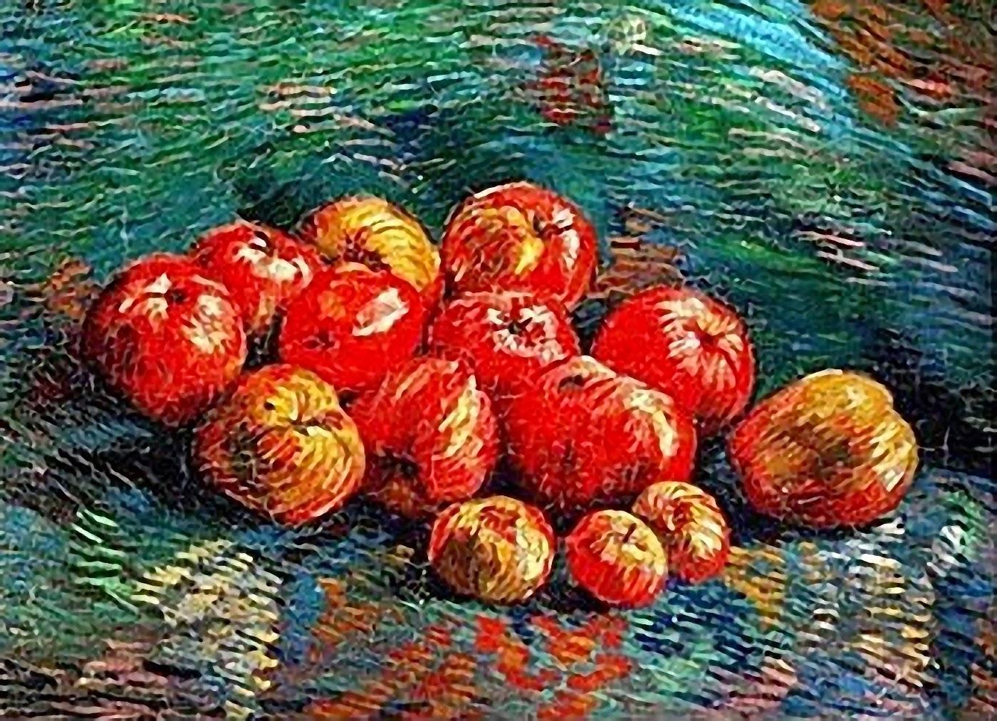 Resultado de imagen para manzana de van gogh
