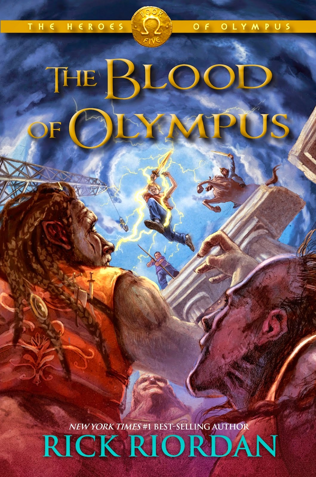 Portada estadounidense de The Blood of Olympus