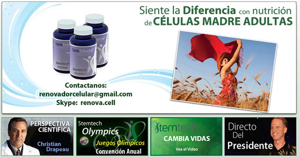 StemTech Ecuador. Telf. 099 681 8182 Celulas Madre. Ecuador. Renovacion Celular con StemEnhance