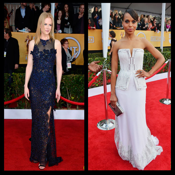 a filha do chefe Kerry Washington Rodarte dress sapatos Christian Louboutin SAG Awards 2013