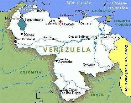 Mapa Politico de Venezuela | Estados de Venezuela