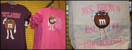 Ms brown m&m t shirt