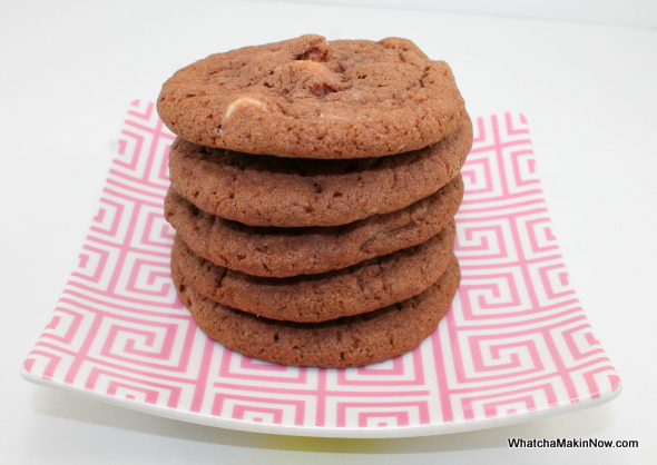 Double Chocolate Pudding Cookies - just like soft batch cookies, only better! from @whatchamakinnow
